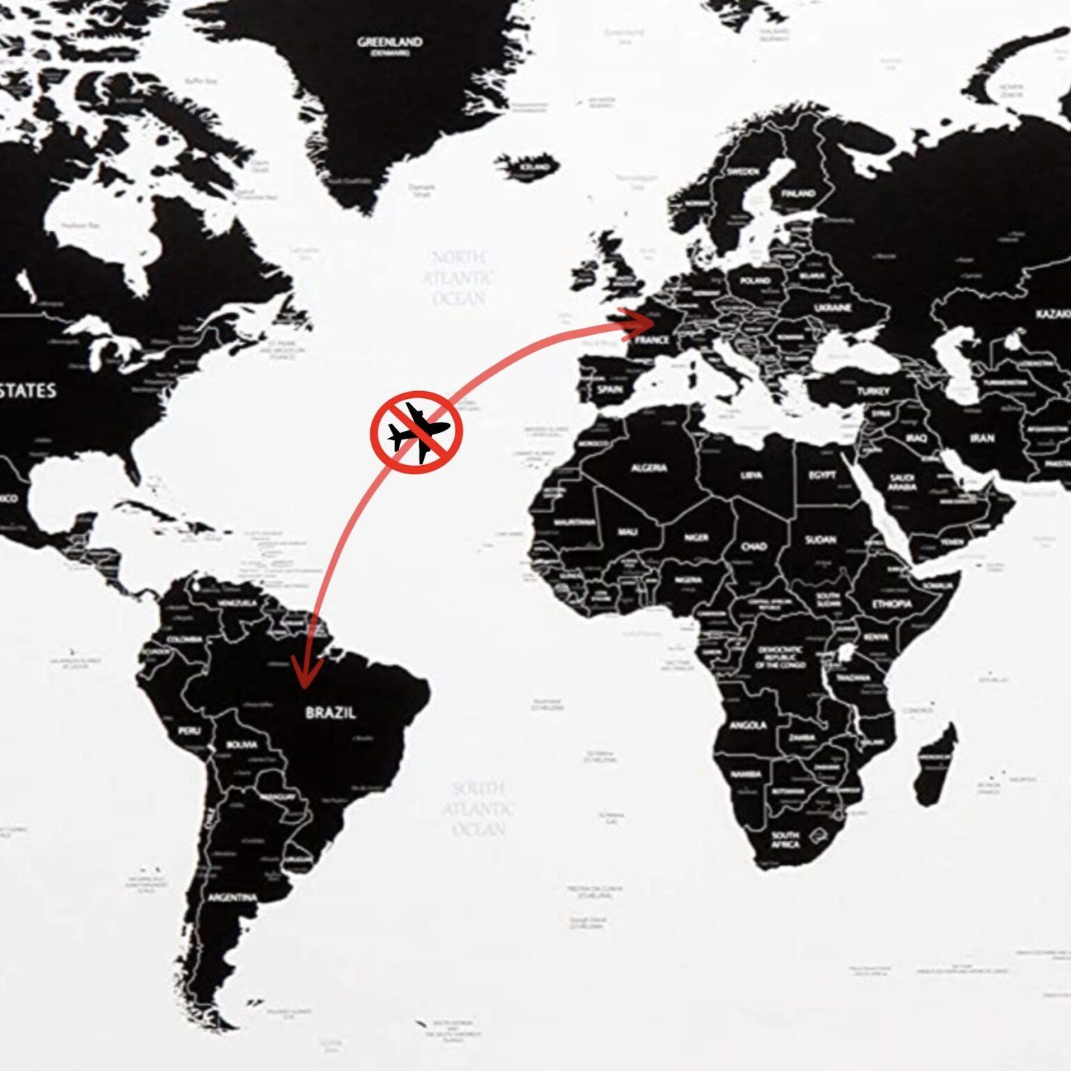 Foto sospensione voli tra Francia e Brasile