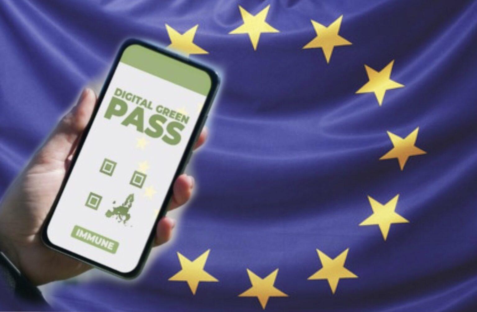 Foto attivazione Green Pass nell'UE