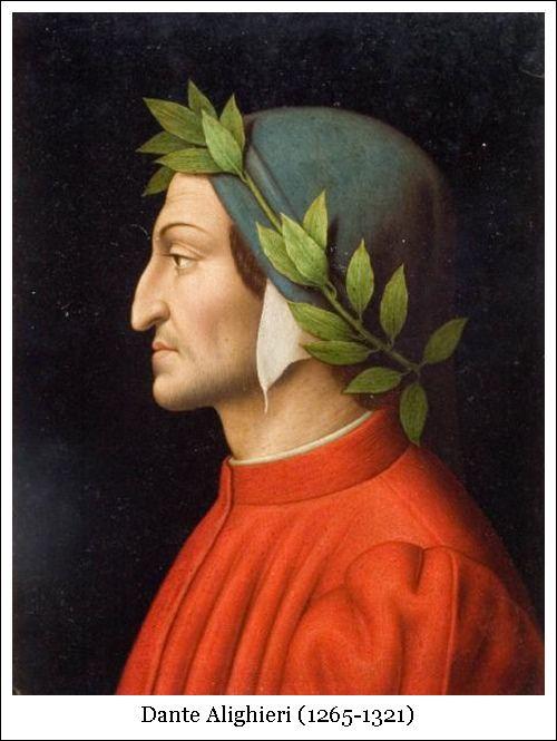 Foto del ritratto di Dante Alighieri