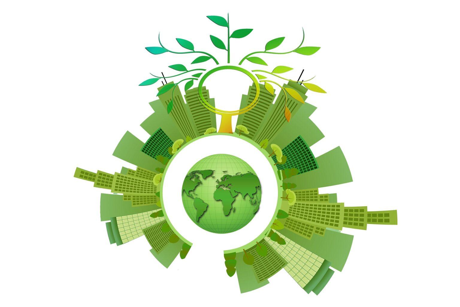 Immagine di un mondo ecosostenibile