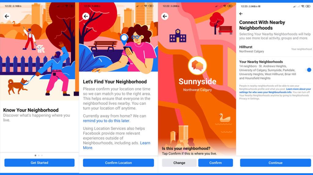 Facebook Neighborhood