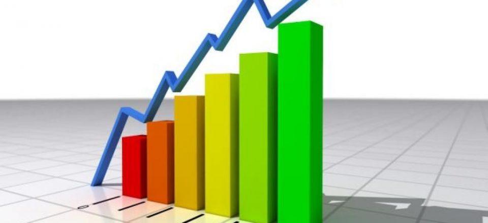 Foto di un grafico per la ripresa economica
