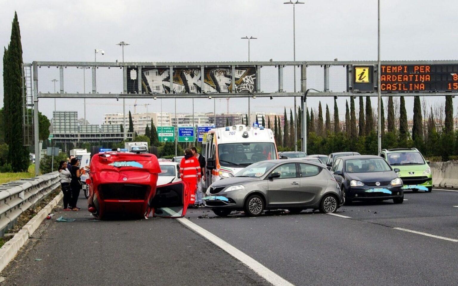 Foto di un incidente stradale