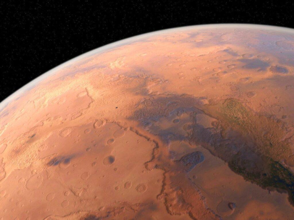 Foto del pianeta Marte