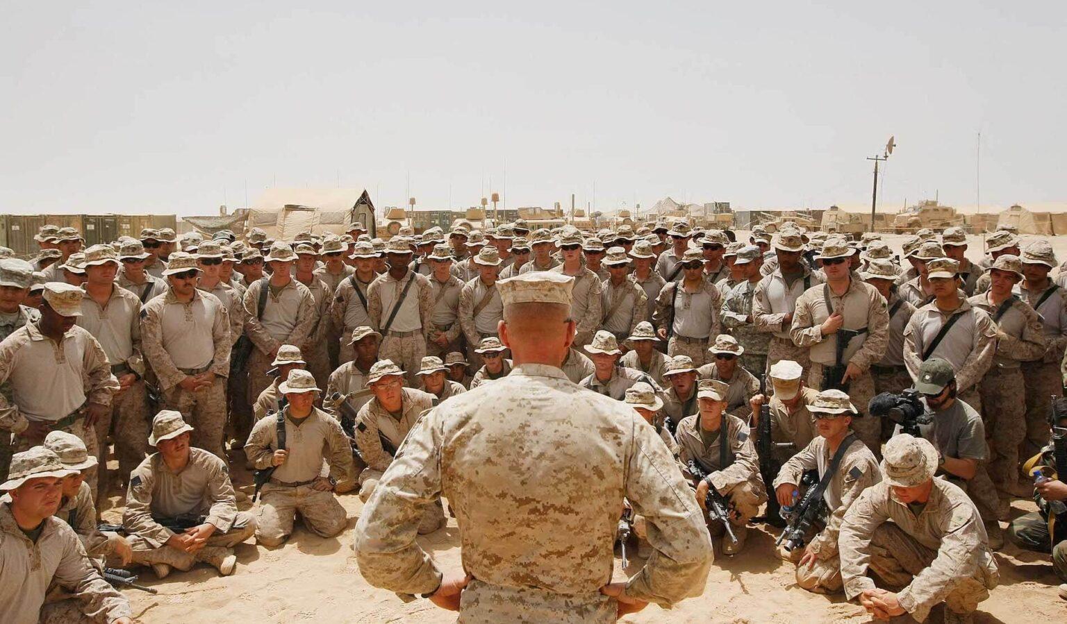 truppe americane in riunione