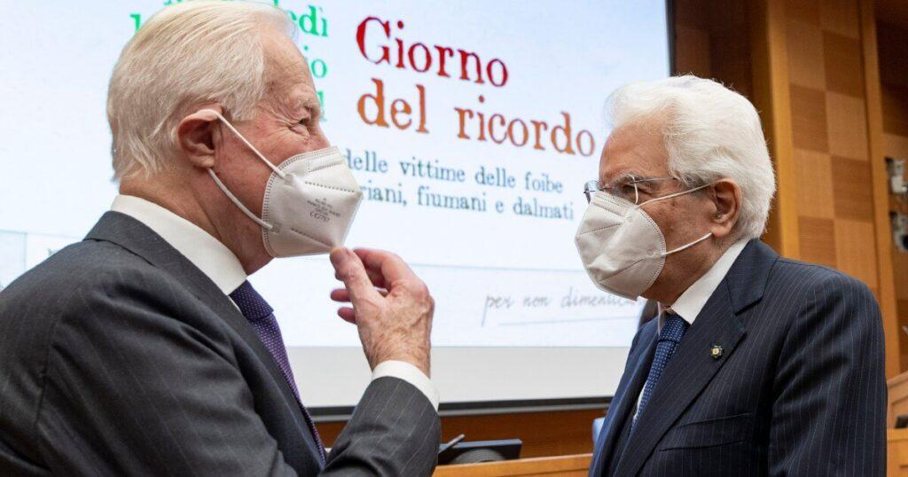 Foto del Presidente della Repubblica Sergio Mattarella con Giuseppe de Vergottini