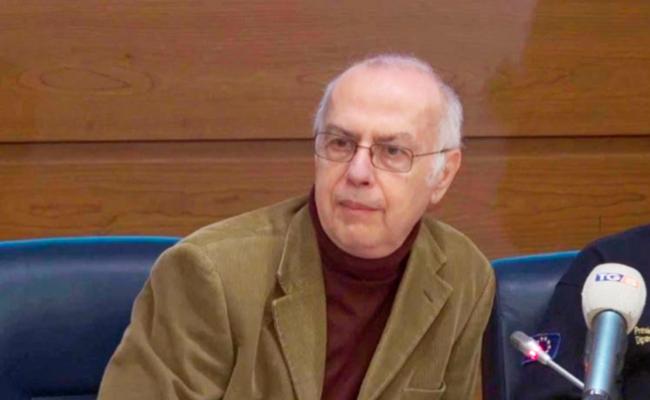 Foto di Giovanni Rezza in conferenza stampa