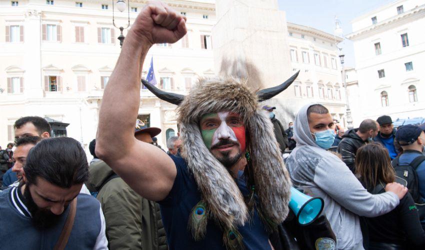 Foto del manifestante Hermes Ferrari