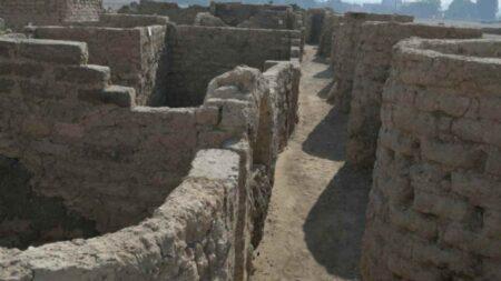 Foto delle reliquie della Pompei egiziana