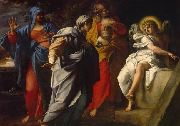L'Angelo annuncia la resurrezione di Gesù