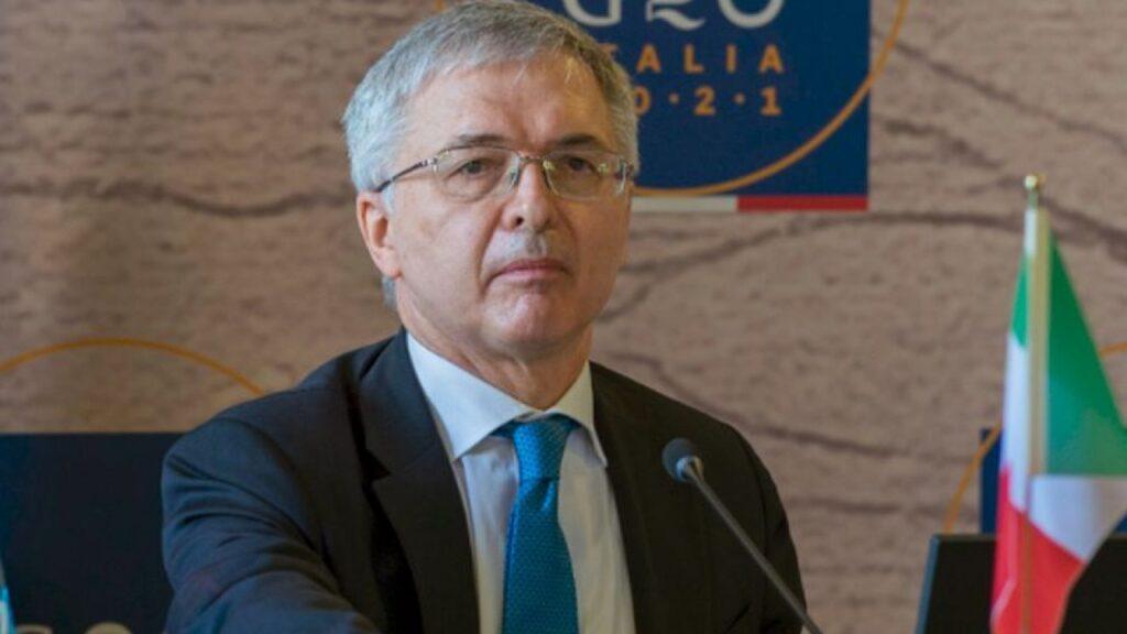 Foto del ministro dell'Economia Daniele Franco