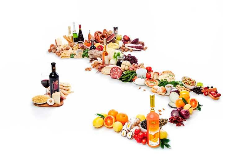 Foto dei prodotti agroalimentari esportati negli Usa