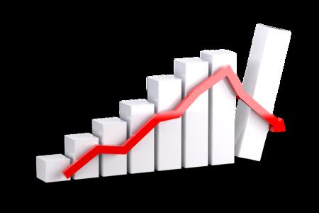 Foto di un grafico per il settore terziario