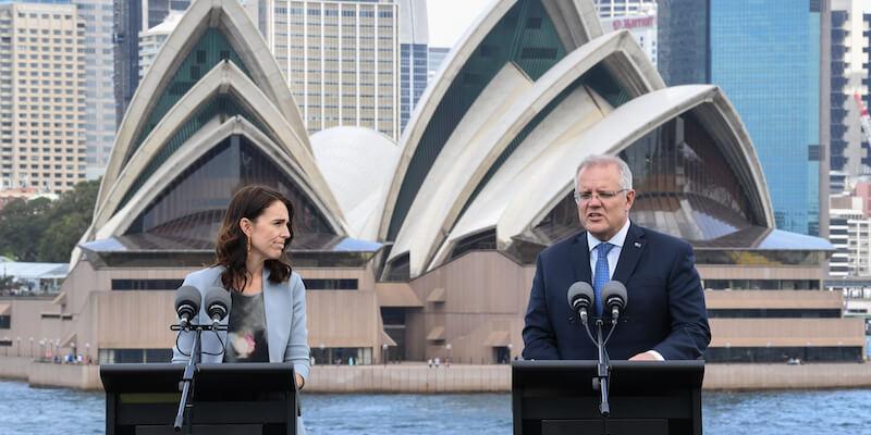 Ardern e Morrison Sidney