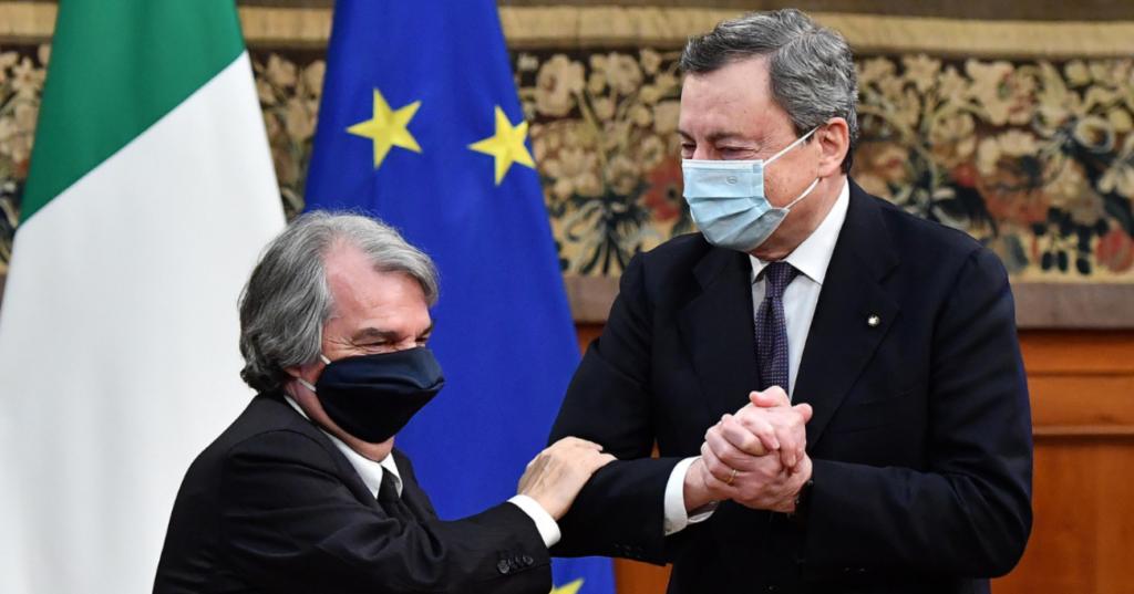 Foto di Draghi con Brunetta
