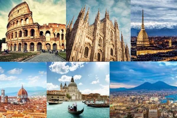 collage città italiane