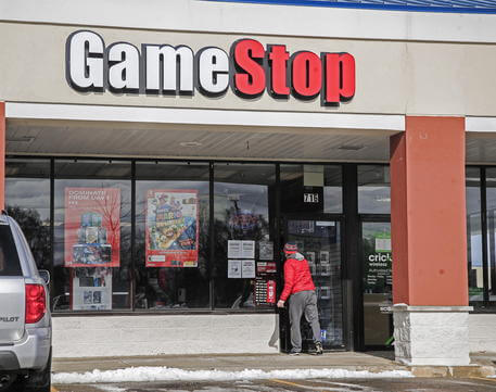 Foto di un negozio GameStop a New York