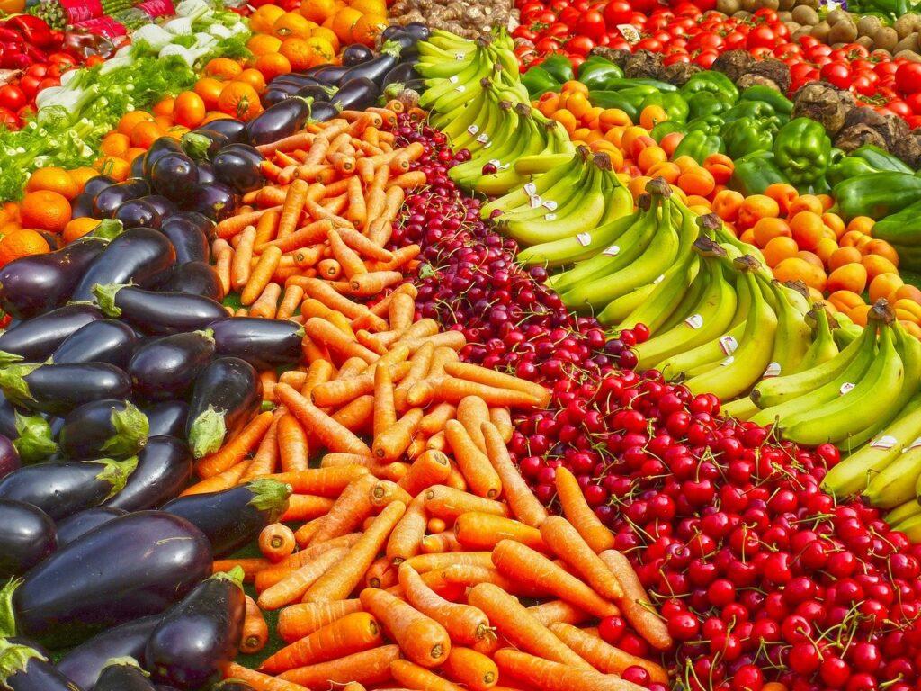 Foto di frutta e verdura