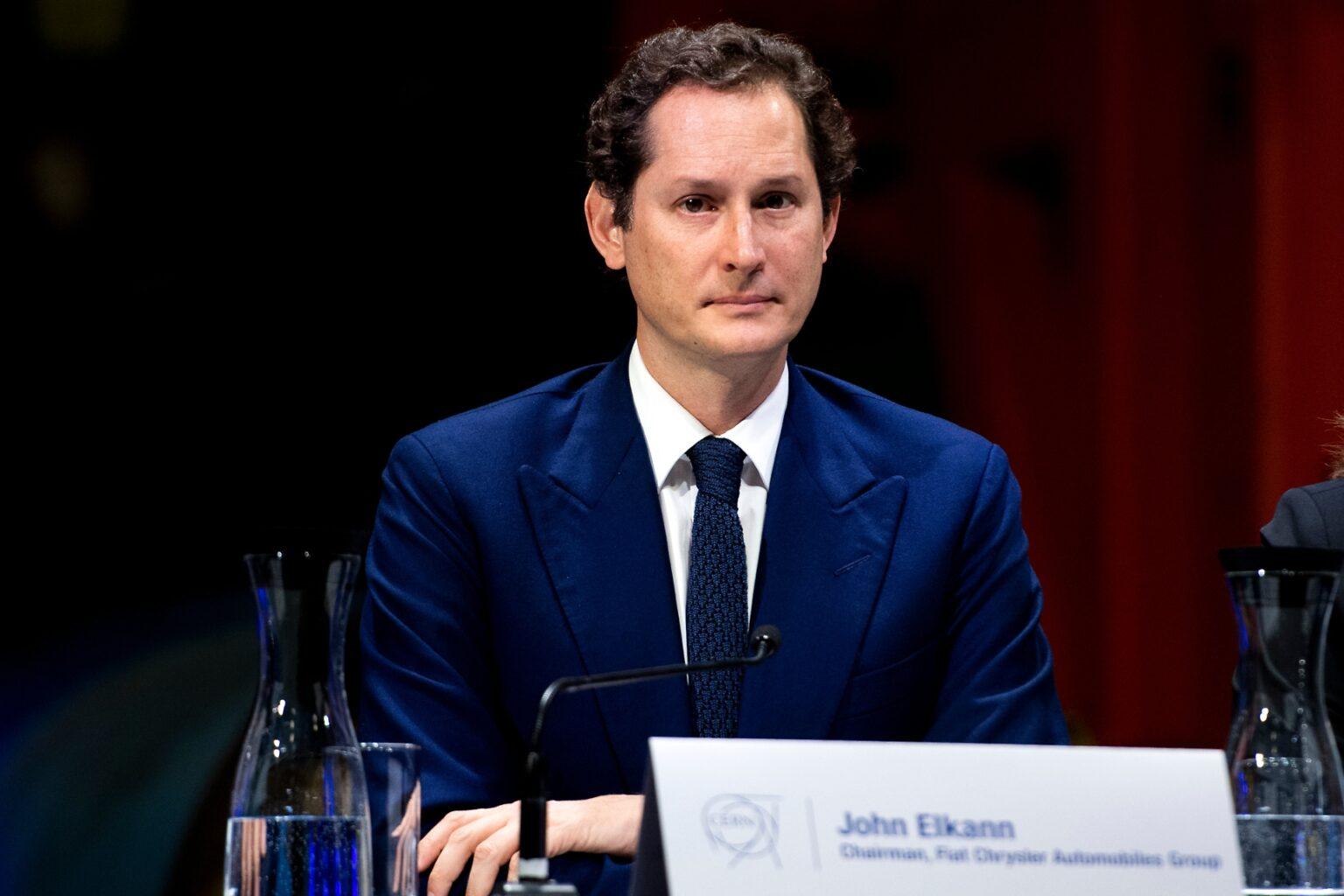 Foto di John Elkann Presidente Gruppo Ferrari