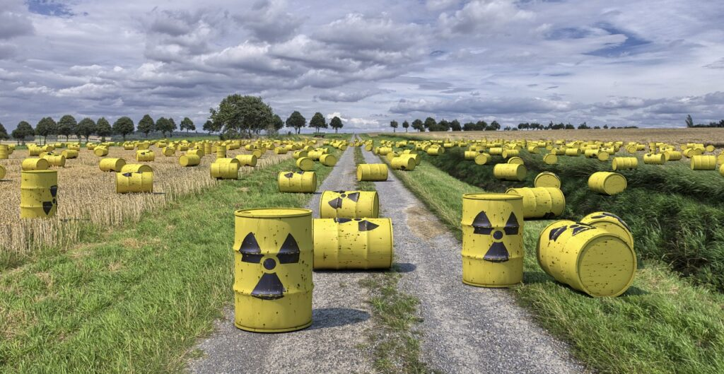 Immagine di rifiuti radioattivi