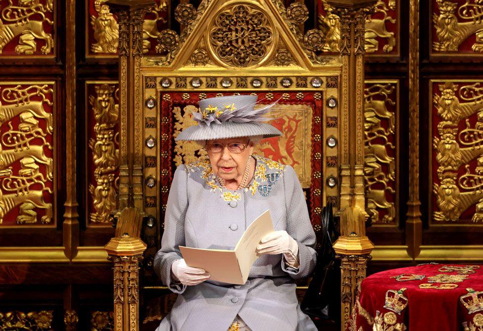 La regina durante il queen's speech