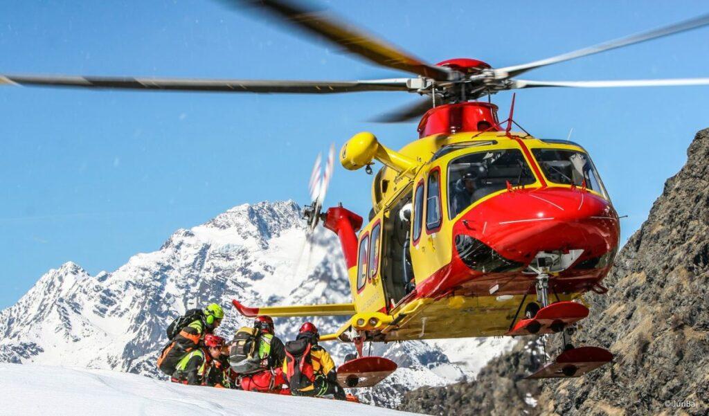 spedizione di recupero elisoccorso alpino