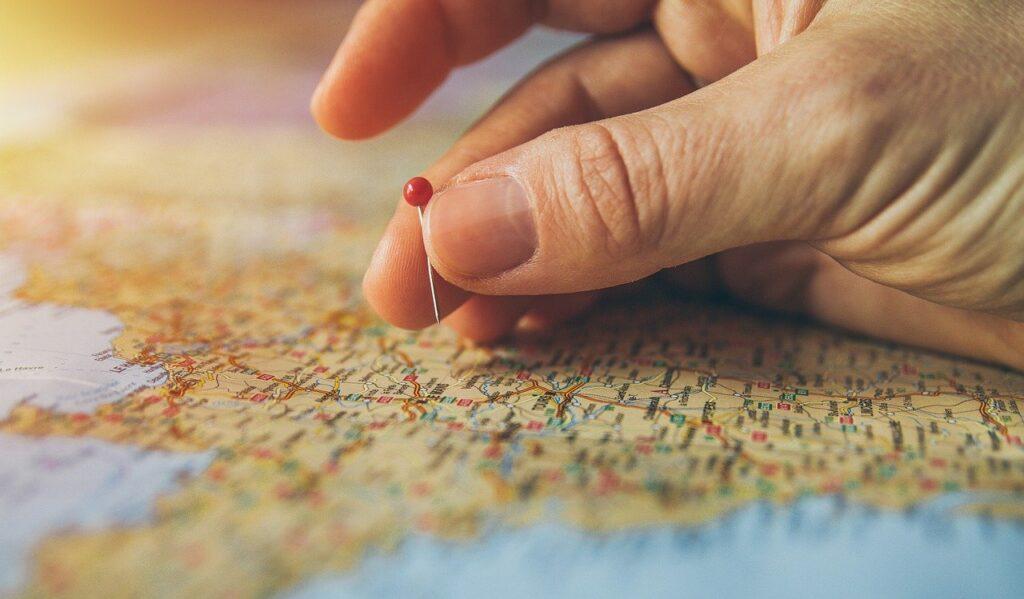 Immagine di una cartina