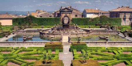 Panoramica del giardino di Villa Lante